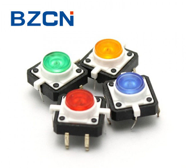 Multi Color Illuminated Tactile Switch With 6 Pin Terminal Directly Push
